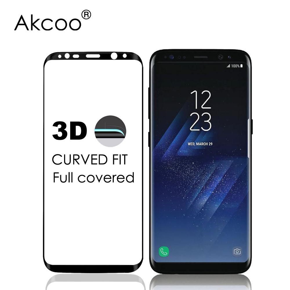 Akcoo nouveau 3D incurvé couverture complète en verre trempé protecteur d'écran pour Samsung Galaxy S8 S8 Plus verre de protection d'écran