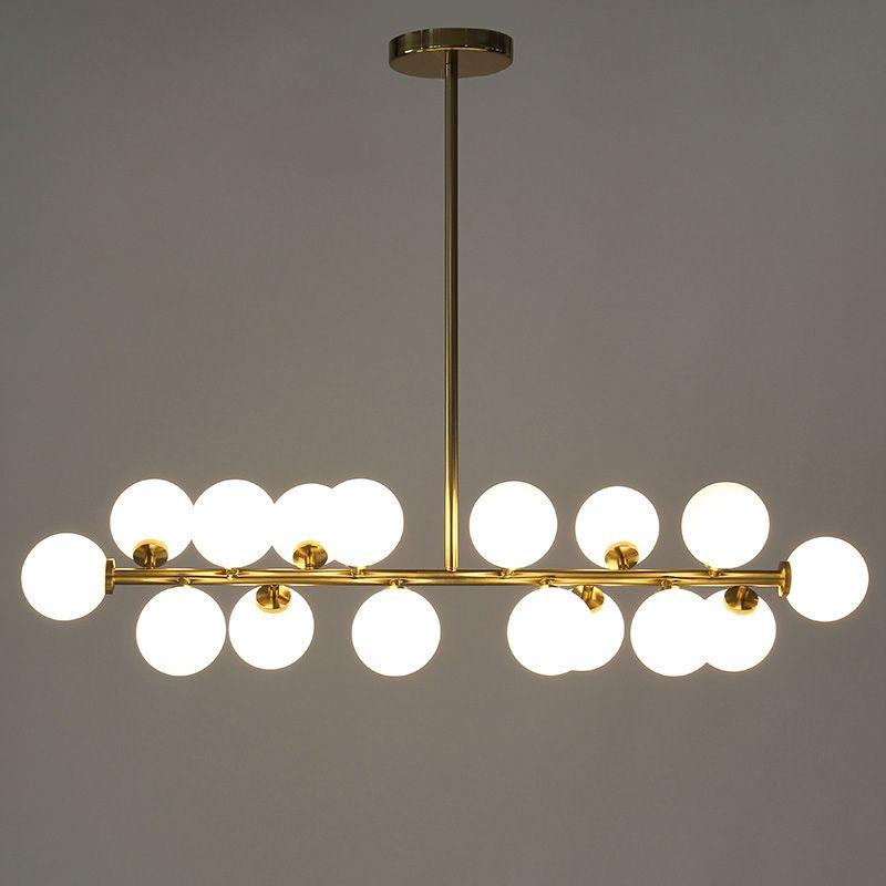 Länge 1000mm gold/schwarz magie bean led anhänger lichter wohnzimmer esszimmer shop moderne led strip glas anhänger lampe leuchten