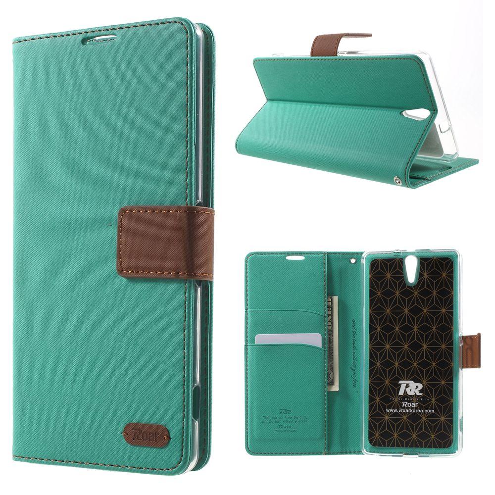 ROAR KOREA for Sony Xperia C5 Ultra Case Wallet Stand Leather Flip Case for Sony Xperia C5 Ultra E5553 E5533 Cover
