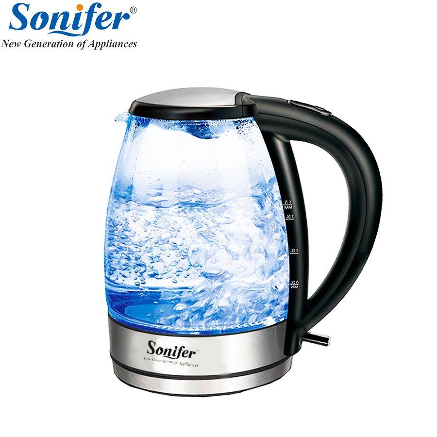 1.7L Original Elektrische Wasserkocher edelstahl Glas 2200 watt Haushalt Schnell Heizung Elektrische Kochendem Topf Sonifer