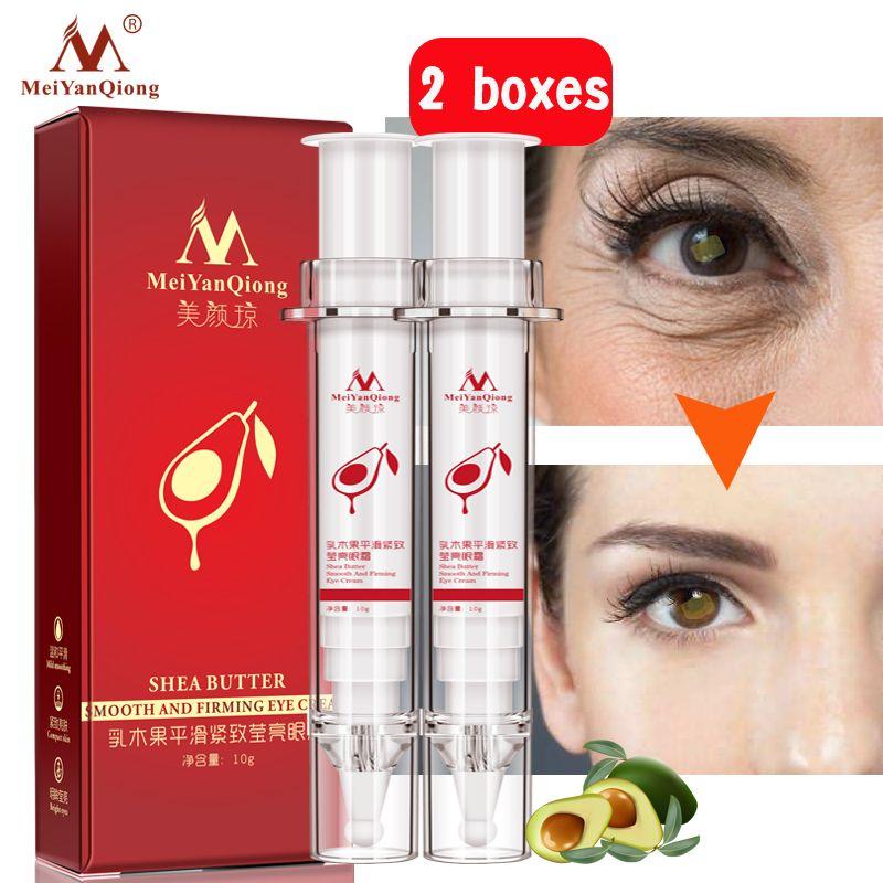 2 teile/los Shea Butter Glatt Und Straffende Augen Creme Anti-Schwellungen Dunklen Kreis Augen Pflege Super Anti-Aging wirkung Feuchtigkeits