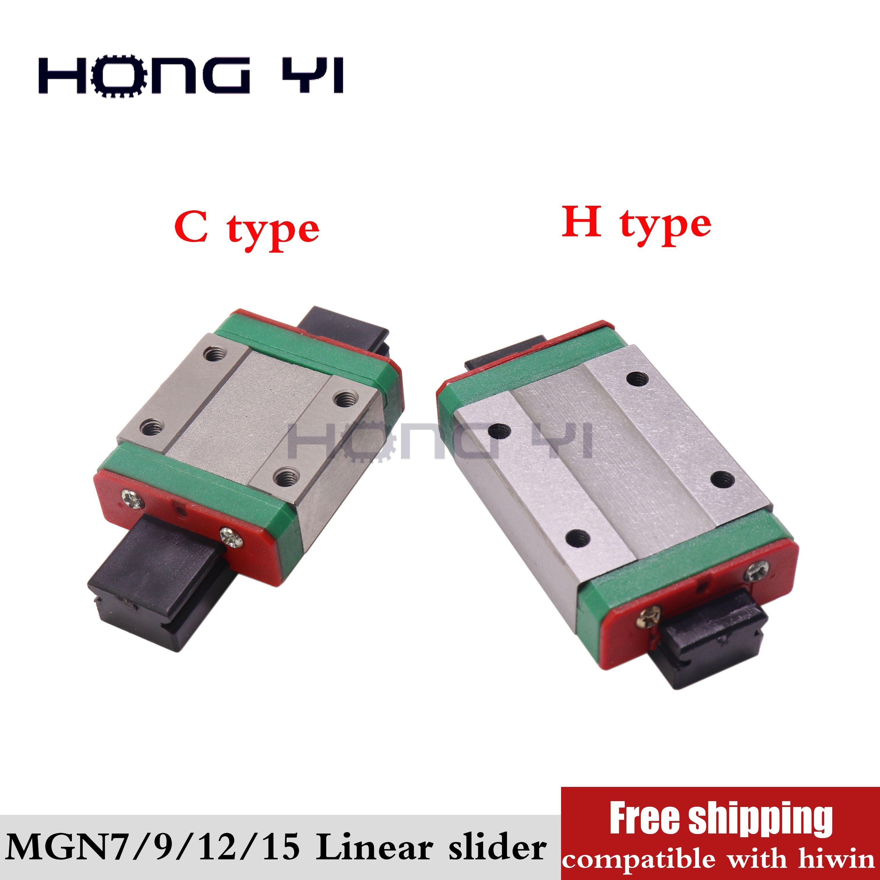 MGN7C MGN9C MGN12C MGN15C MGW12C curseur linéaire miniature de guidage linéaire bloc voitures 3D imprimante MGN7H MGN9H MGN12H MGN15