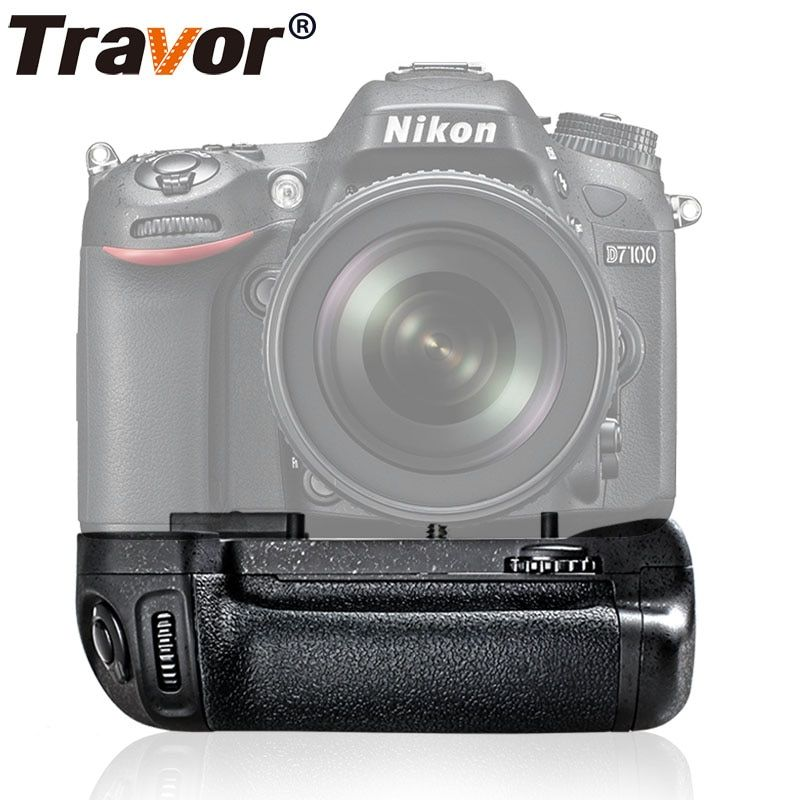 Travor Vertical Battery Grip Holder For <font><b>Nikon</b></font> D7100 D7200 DSLR camera work with EN-EL15 battery as MB-D15 MBD15 MB D15
