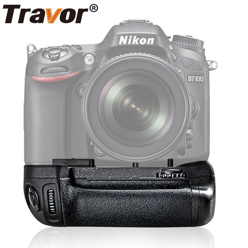 Travor Vertical Battery <font><b>Grip</b></font> Holder For Nikon D7100 D7200 DSLR camera work with EN-EL15 battery as MB-D15 MBD15 MB D15