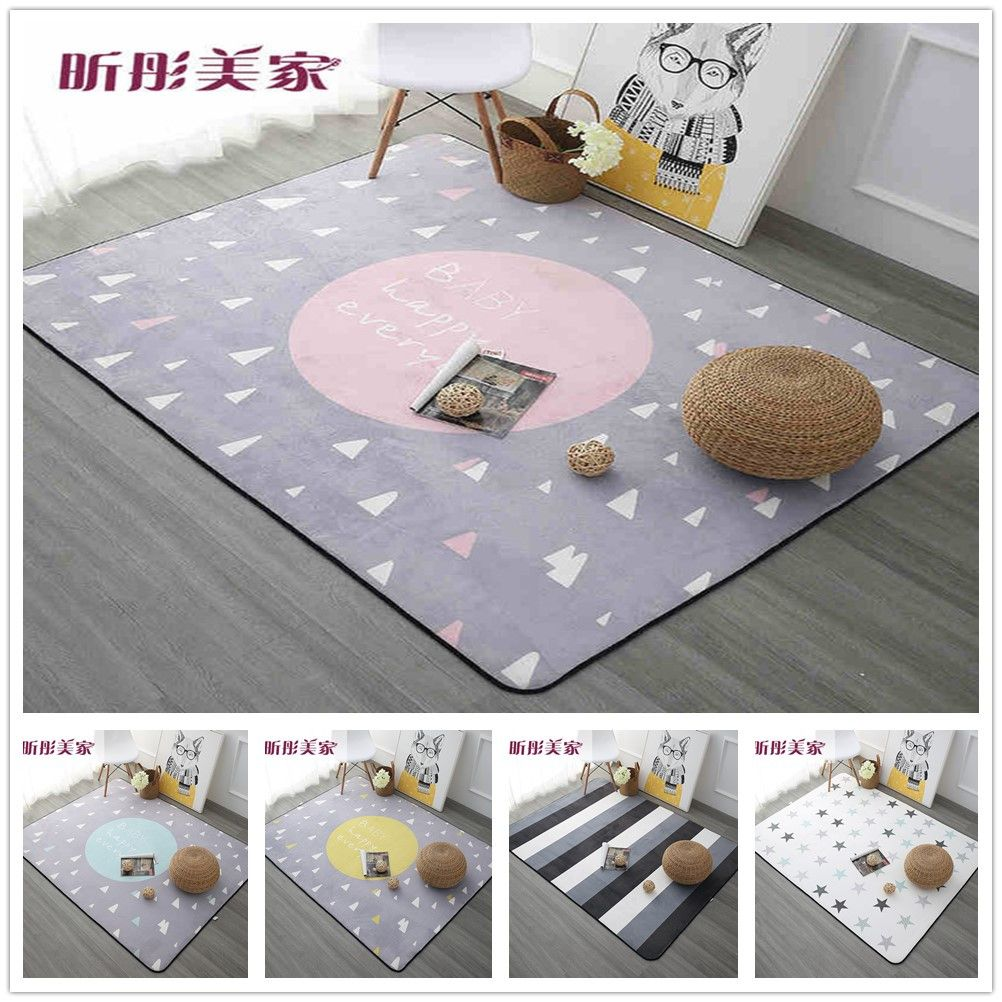 Dreaming Carpet for Sale 120x180cm Thicken Soft Kids Room Play Mat Modern Bedroom Area Rugs Large Pink Carpets for Living Room