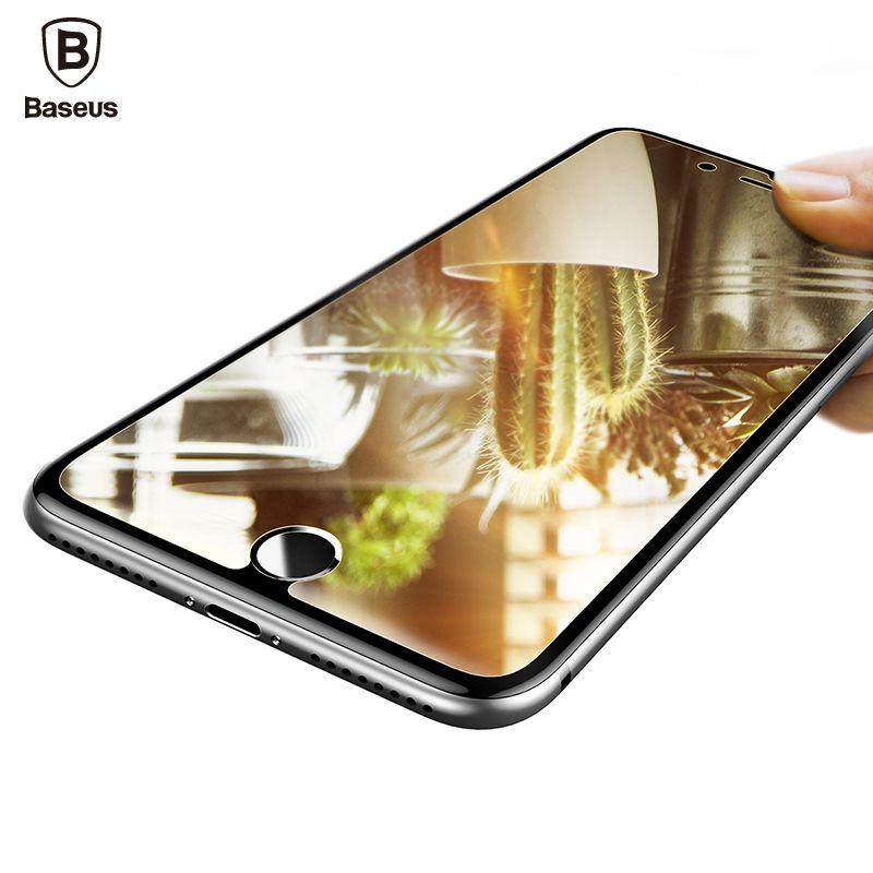 Baseus Miroir Protecteur D'écran Pour iPhone 7 En Verre Trempé Pour l'iphone 7 Plus HD Couverture Claire De Protection En Verre Film