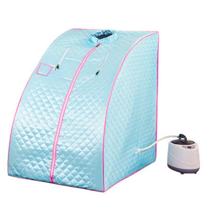 Tragbare Dampf Sauna Hause Sauna Bad 1000 W 2L EU US UK AU Stecker DAMPFBAD Sauna Box Leichtigkeit Schlaflosigkeit edelstahl Rohr Unterstützung