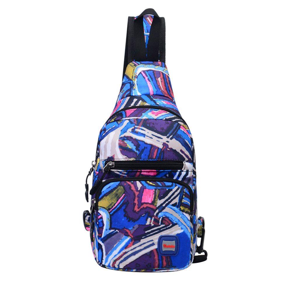 Унисекс спорта на открытом воздухе Груди Сумка Crossbody сумка нейлон студенческие Путешествия сумка Multi Цвет Back Pack Рюкзак
