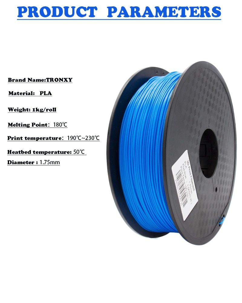 Free shipping 3d printer filament for MakerBot/RepRap/UP/Mendel PLA/ABS 1.75 plastic Rubber Consumables Material 1KG