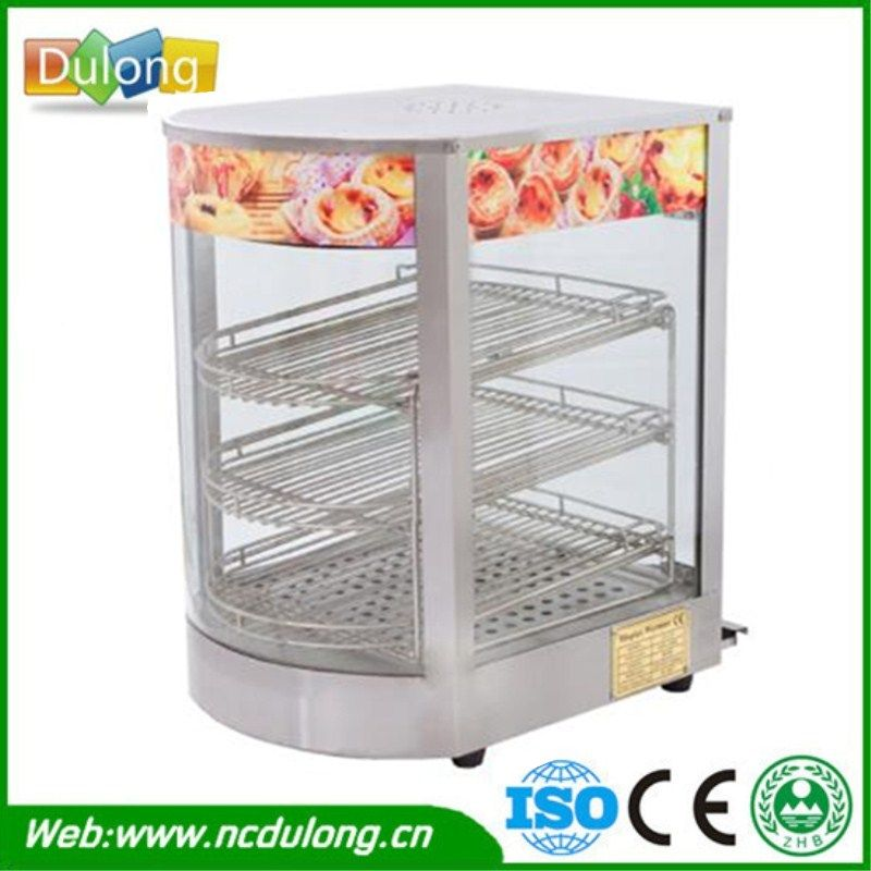 Commercial Stainless Steel Electric Egg Tart Warmer Three layers Keep Food Warm Heated Display Cabinet Warming Showcase