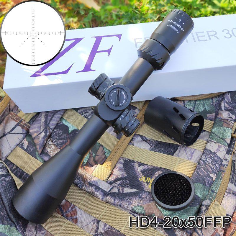 HD 4-20x50FFP Taktische Optik Zielfernrohr Erste Brennebene Absehen Dual Beleuchtet Night Jagd Zielfernrohr Für Pistole