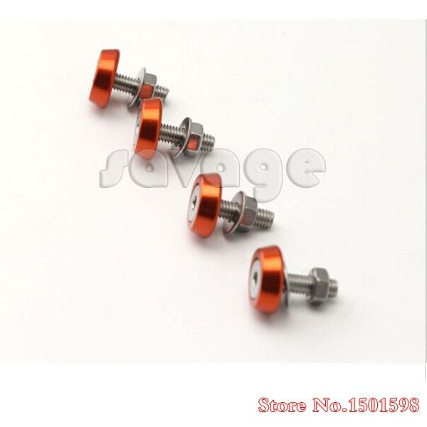 4pcs Screw kit front fender Aluminum 6mm For KTM Orange