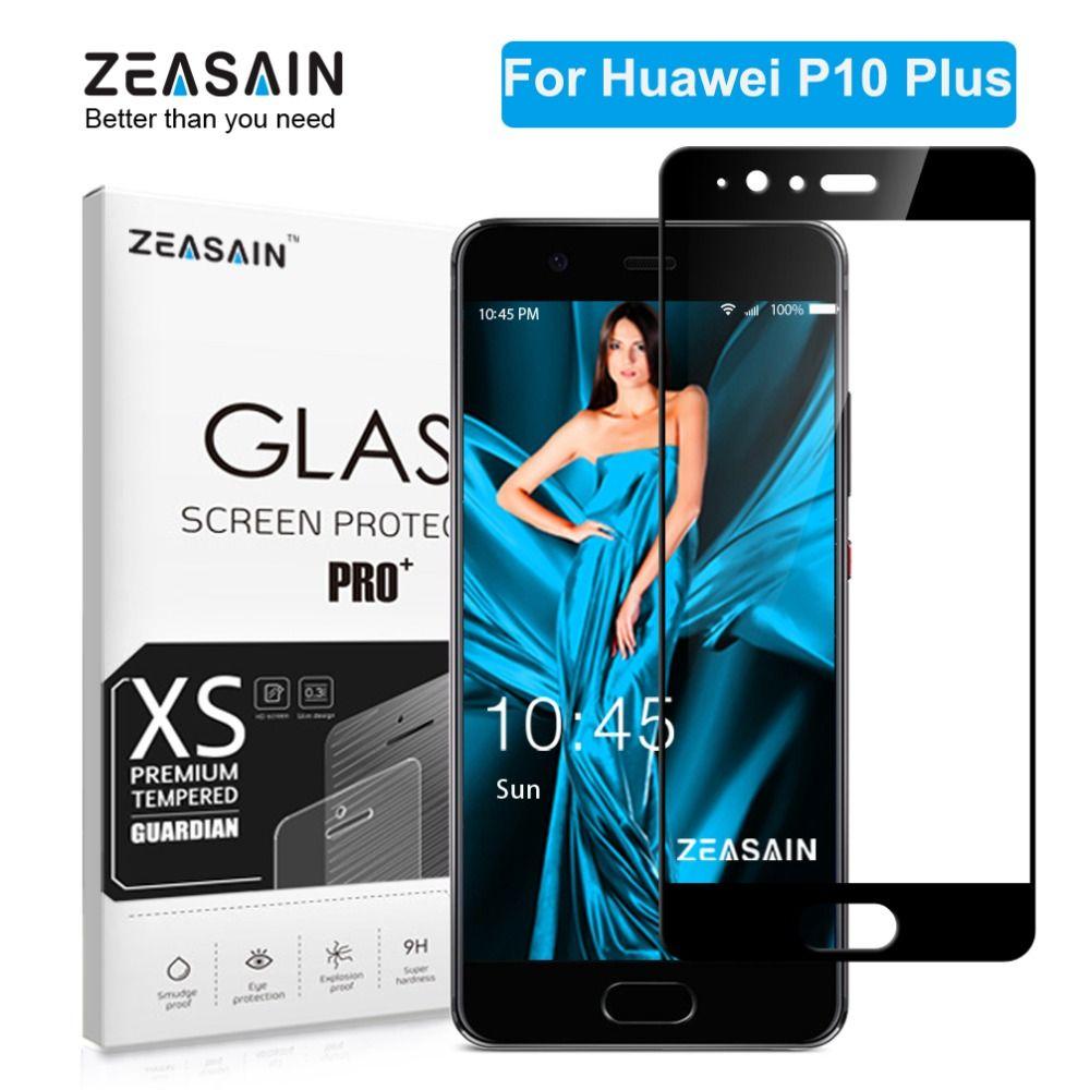 ZEASAIN 2.5D 9 H dureté couverture complète protecteur d'écran en verre trempé pour Huawei P10 Plus P10Plus P 10 Film de protection