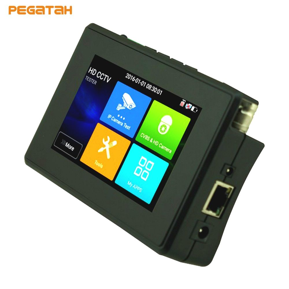 4inch 5 in 1 5MP AHD 8MP TVI 4MP CVI 4K H.265 IP CVBS Support PTZ Control Security Camera System CCTV tester