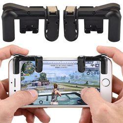 Juego disparador Botón de fuego objetivo clave teléfono móvil inteligente juego Joysticks L1R1 Shooter controlador para PUBG Fortnite reglas de supervivencia