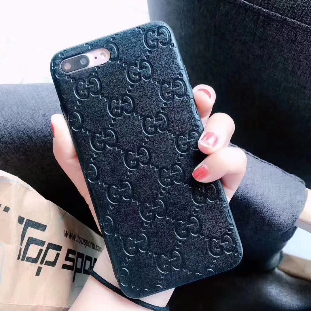 SZYHOME Phone Cases for Iphone X 6 7 8 Plus Fashion Vintage Business Luxury PU Leather Embossing Process Phone Cover Accessories