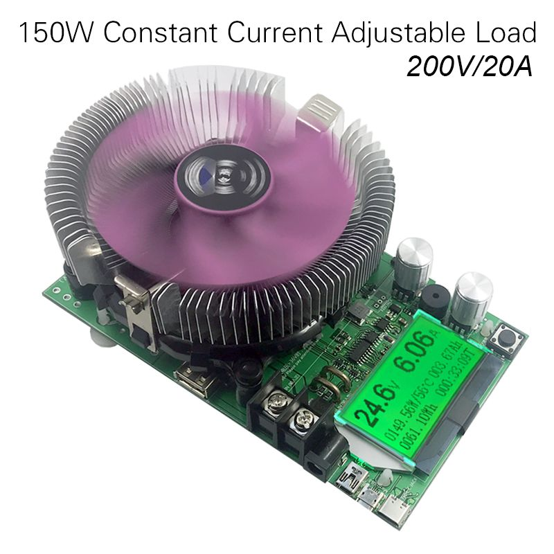 150W/180W DC Digital voltmeter Constant Current Electronic Load 200V 20A ameter Discharge meter car battery Capacity volt Tester