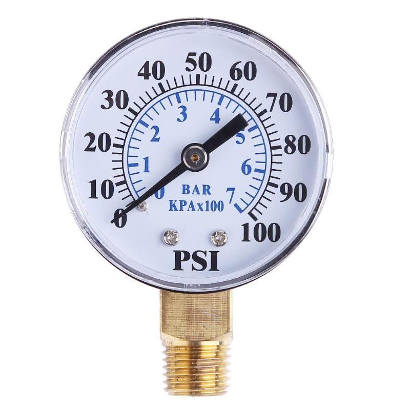 1/8 zoll NPT 2 Zoll Gesicht Seite Montieren 0-100psi 0-7bar Manometer Zifferblatt Luft Kompressor Meter Hydraulische Druck tester Messgerät