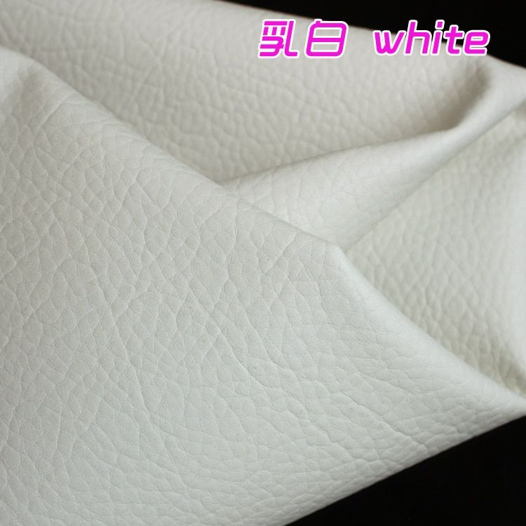 White Big Lychee Pattern PU Synthetic Leather Faux Leather Fabric Upholstery Car Interior Sofa Cover 54