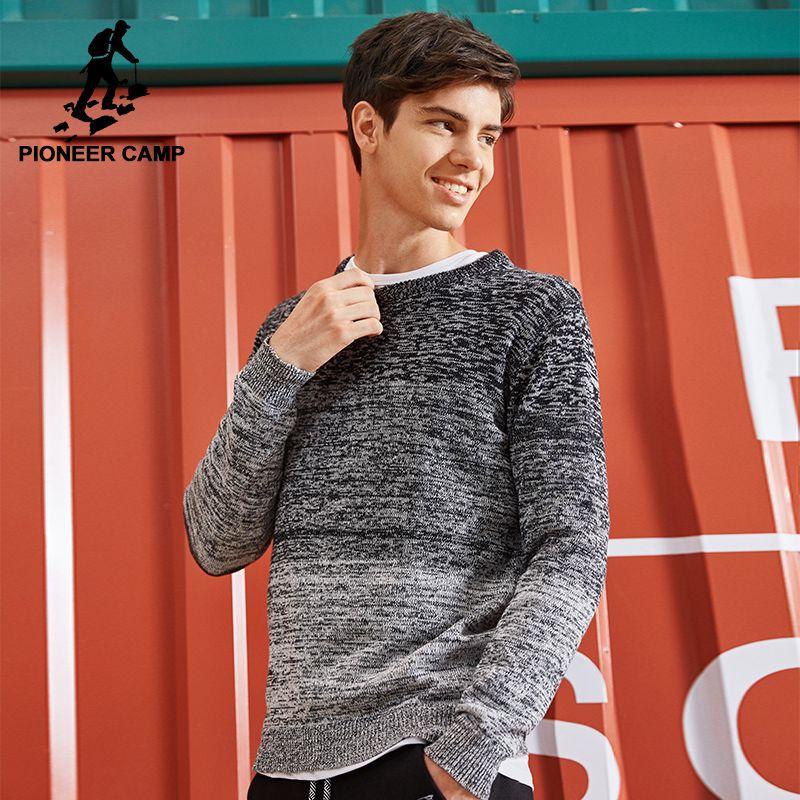 Пионерский лагерь новый мужской свитер брендовая одежда модный вязаный свитер пуловер мужской качество 100% хлопок на осень-зиму AMS702429