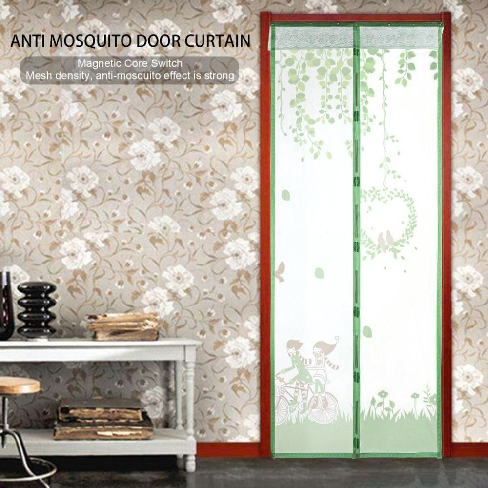 OUTAD Magnetic Fly Bug Anti Insect Mosquito Screen Clear Mesh Self-closed Soft Yarn Door Tulle for Curtain Balcony Offices Green