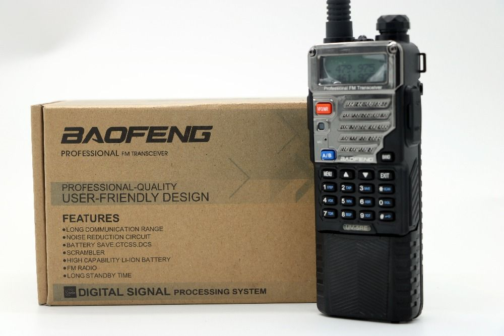 Baofeng UV-5RE Walkie Talkie with 3800mAh long battery Dual Band CB Radio 128CH Portable Professional UV-5R Series Transceiver