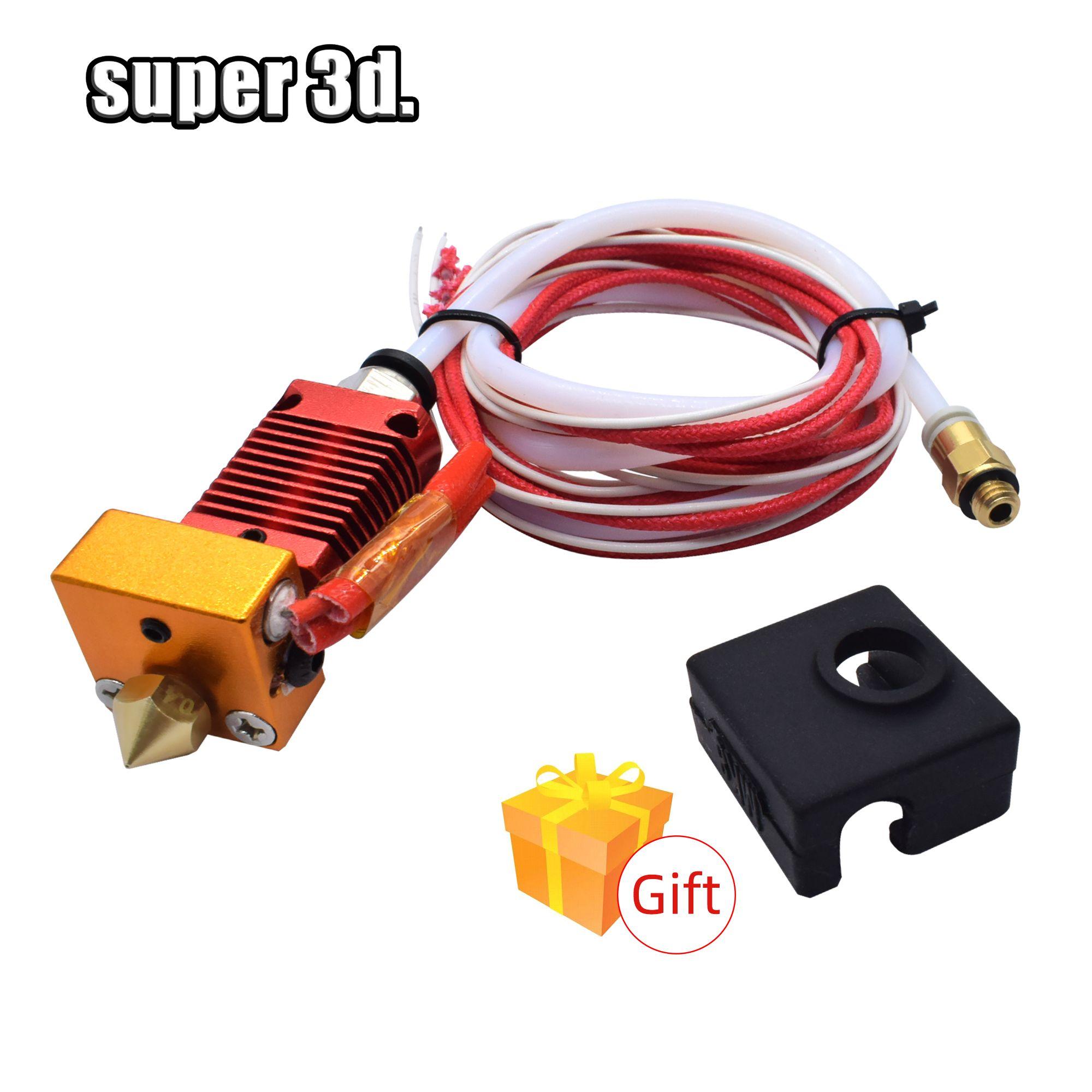 Kit d'extrémité chaude de Kit d'extrudeuse de Hotend du métal 3D j-head CR10 pour des pièces d'imprimante 3D de l'extrudeuse 12/24V 40W de Bowden de Ender-3 CR10 10s