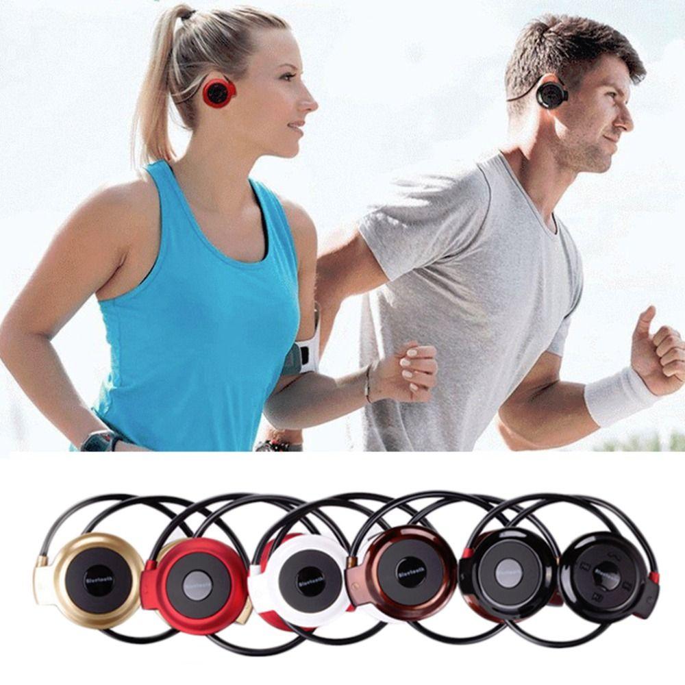 MINI 503 Ear Hook Mini Sports Wireless Bluetooth Headset Hi-Fi Handsfree Stereo Earphone Headphone TF Card For MP3 Player