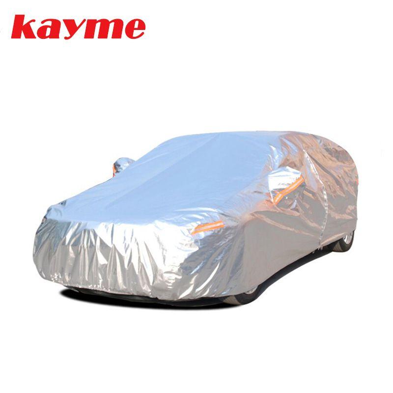 Kayme алюминия Водонепроницаемый автотентами супер защита от солнца пыли дождь автомобиль крышка полный универсальный авто внедорожник защи...