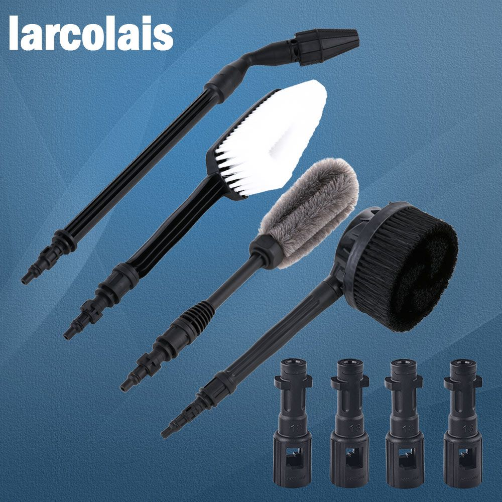 Car Washer Water Spray Gun Lance Nozzle with Brushes High Pressure Cleaner Washers Set for Lavor Karcher K2 - K7