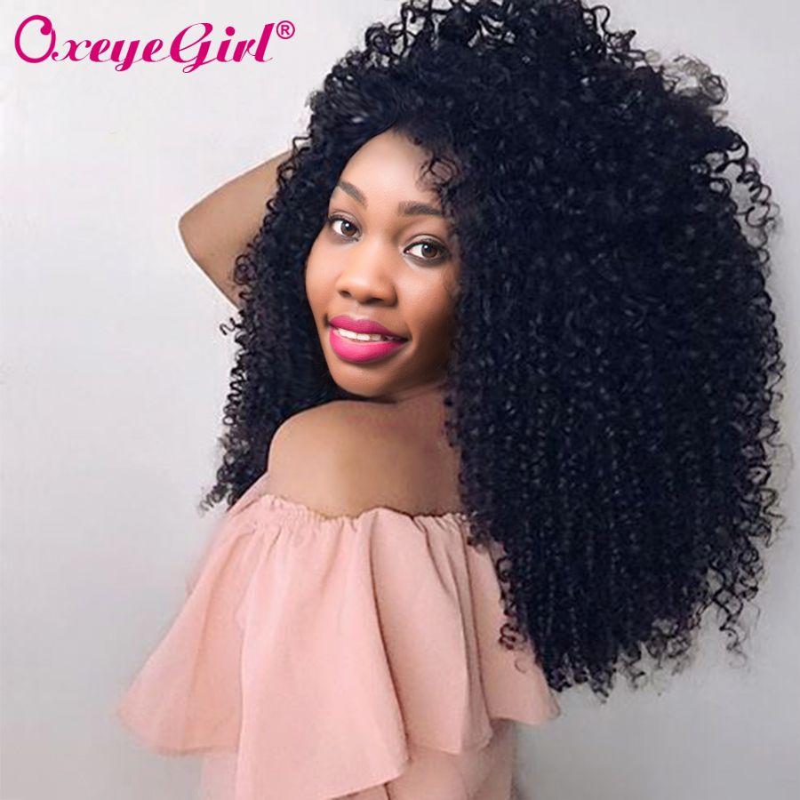 Afro crépus bouclés cheveux paquets de cheveux humains paquets de cheveux brésiliens armure de cheveux 1/3/4 pièces Remy cheveux faisceaux Oxeye fille