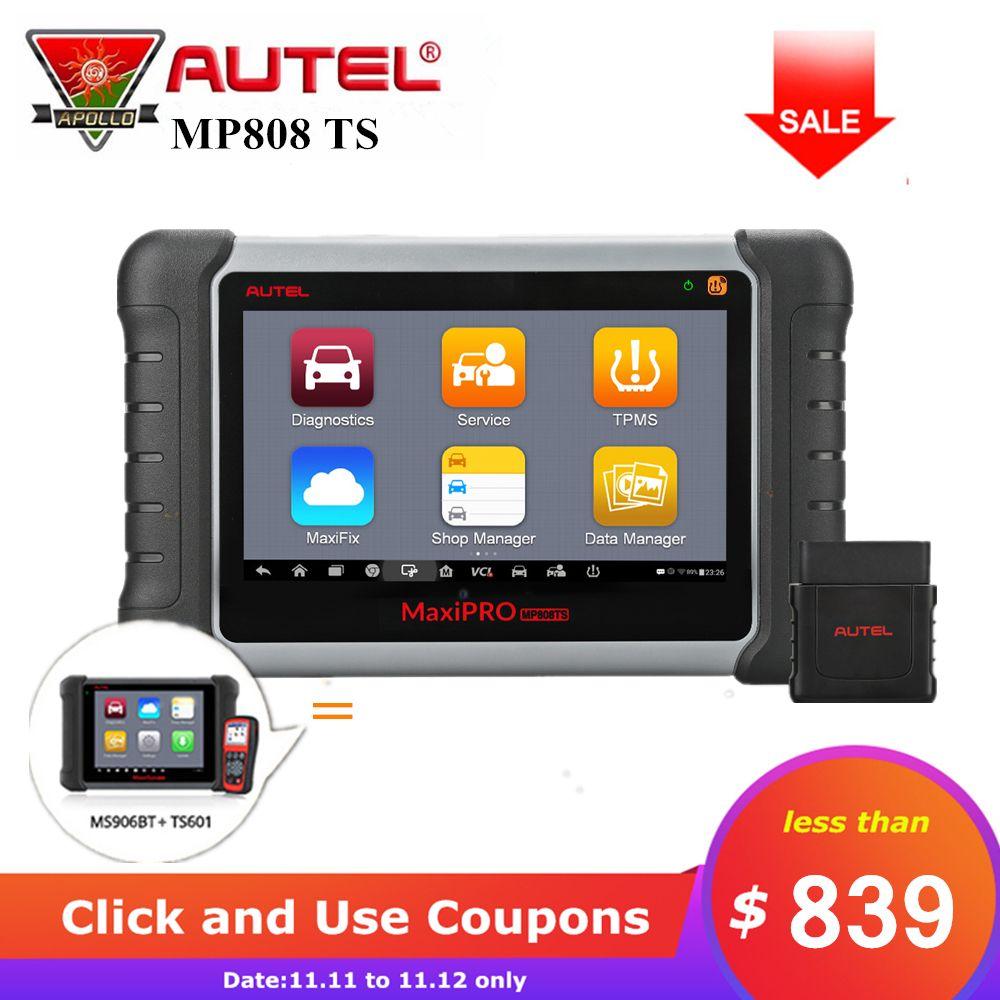 Autel MaxiPro MP808TS Volle System Auto Scanner Auto OBD2 Diagnose Werkzeug Unterstützung ABS SRS EPB TPMS Service Gleiche wie DS808 + TS601