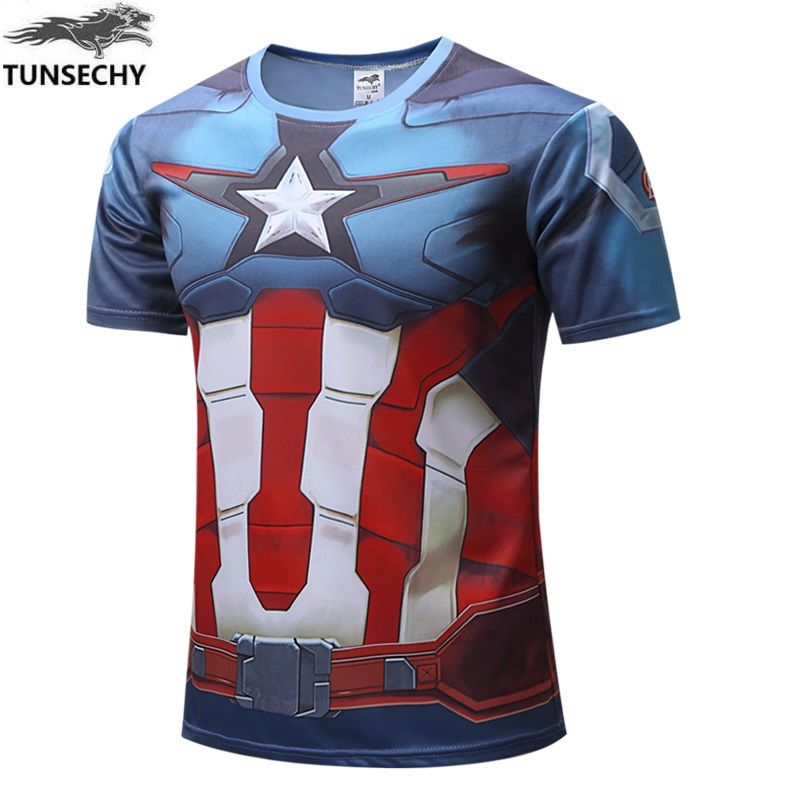 2017 TUNSECHY man Hulk Batman Retro Spiderman Venom Ironman Superman Captain America Marvel T shirt Avengers Superhero T-shirts