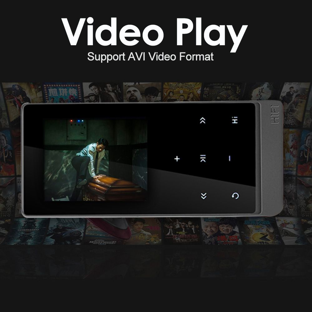 Neueste mp4 player bluetooth touchscreen 2,0 zoll Dual Audio Ausgang Metall Verlustfreie Musik Player mit FM eBook Recorder Pedometer