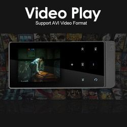 Newest mp4 player bluetooth touch screen 2.0 inch Dual Audio Output Metal Lossless Music Player with FM eBook Recorder Pedometer
