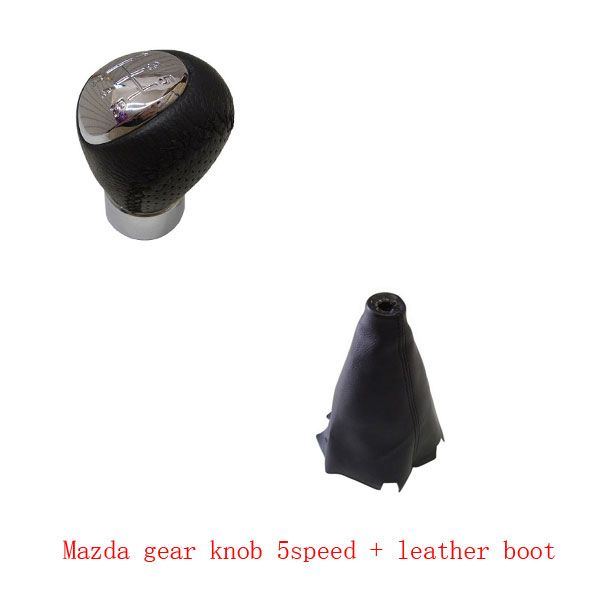 5 speed/ 6 Gear Car Shift Gear Knob PU Leather Boot Gaitor For MAZDA 3 2003 2004 2005 2006 2007 2008 2009 Accessories