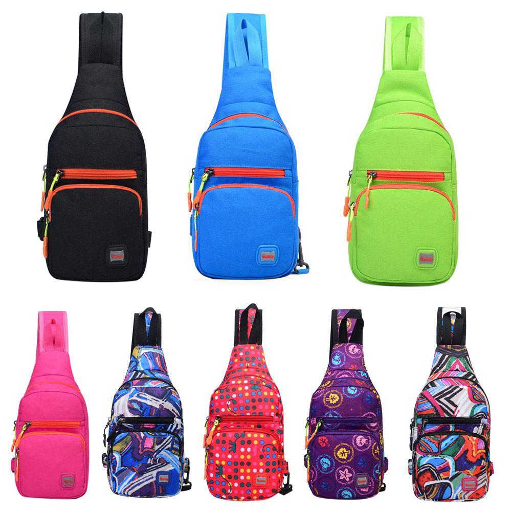 Грудь Слинг Обновления Открытый Спорт одного плеча нейлон ткань большой езды путешествия рюкзак сумка спортивная сумка