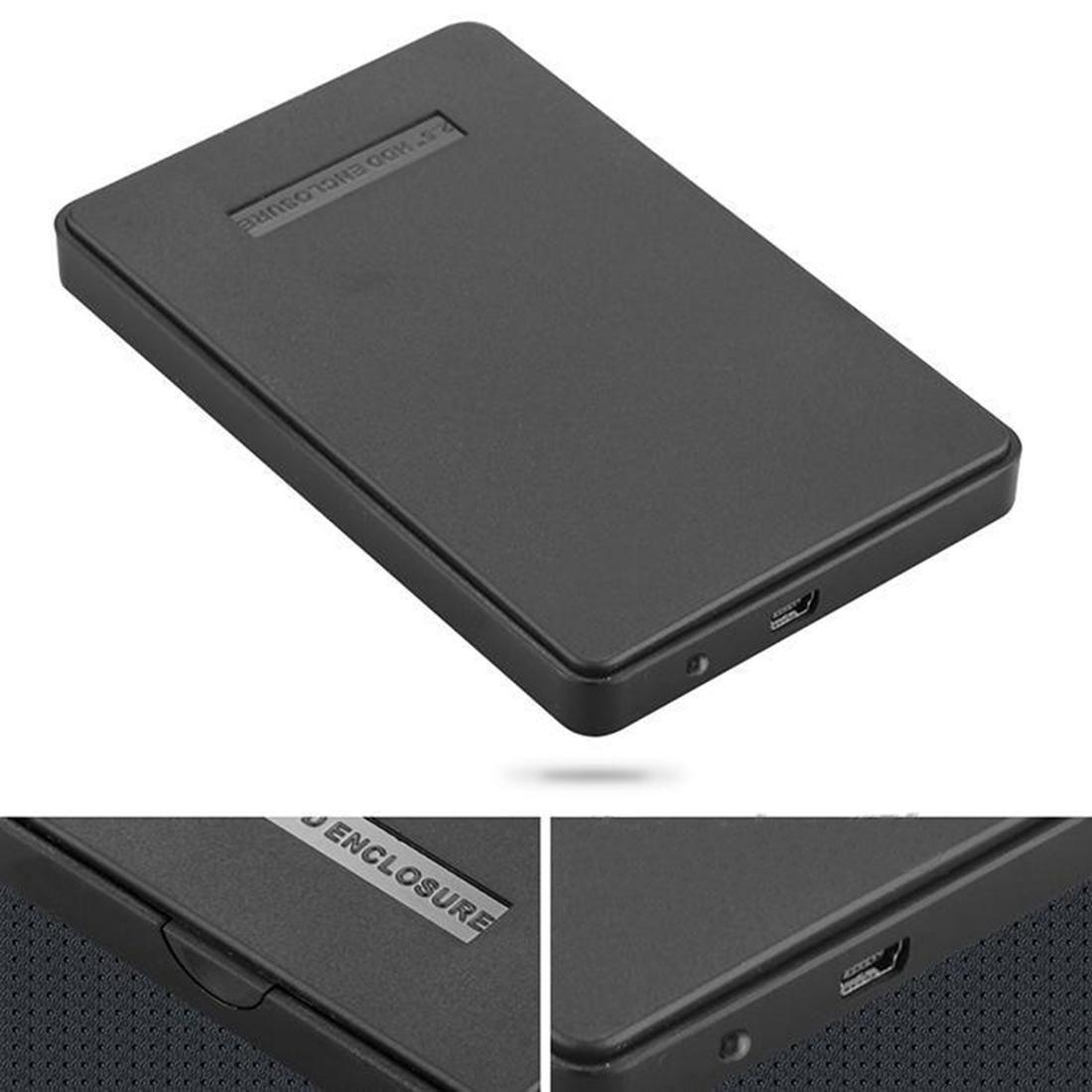 NOYOKERE Externes Gehäuse für Festplatte Usb 2.0 Sata Durable Tragbare Fall Hdd 2,5
