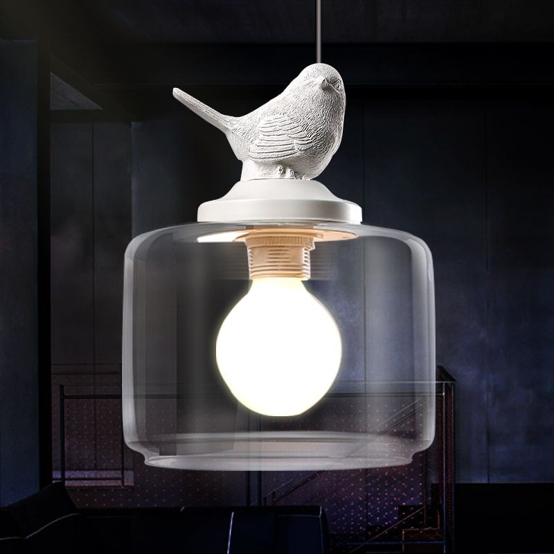 Contemporain Et Contracté Créative Lustre Pendentif lampe Rétro Art En Verre Suspension Luminaire Café Restaurant Étude Lampes