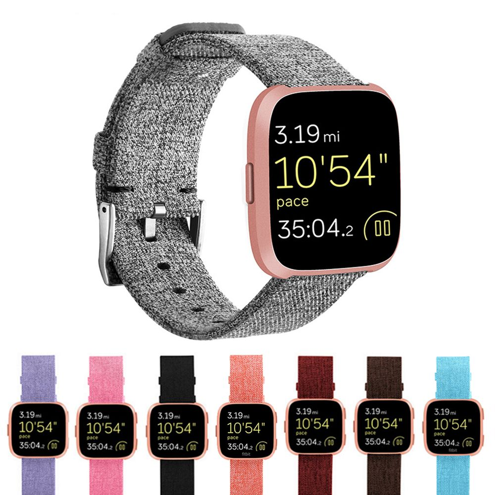 Durable Fashion Nylon Fabric Replacement Wristband Wrist Bands Watch Band Strap Accessories for Fitbit Versa Sport Smartband