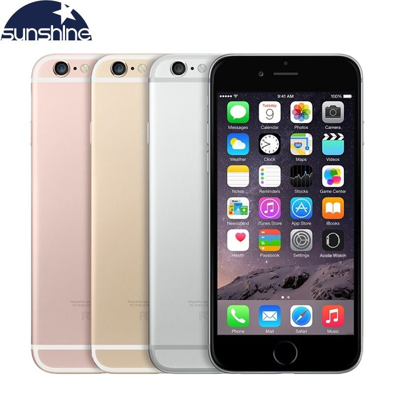 Original Unlocked Apple iPhone 6S Plus 4G LTE Mobile phone 5.5'' <font><b>12MP</b></font> 2G RAM 16/64/128G ROM Dual Core Camera Cell Phones