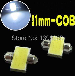4 pcs/lot 31mm Festoon COB 31MM 3W Car LED Bulbs Interior Dome Festoon Lights White 12V