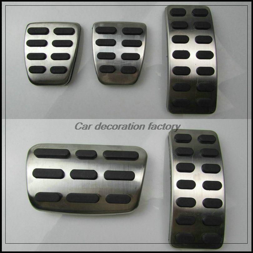 Stainless Car Accelerator Gas Brake pedal Clutch Pedal for Hyundai solaris sedan hatchback 2012-2015