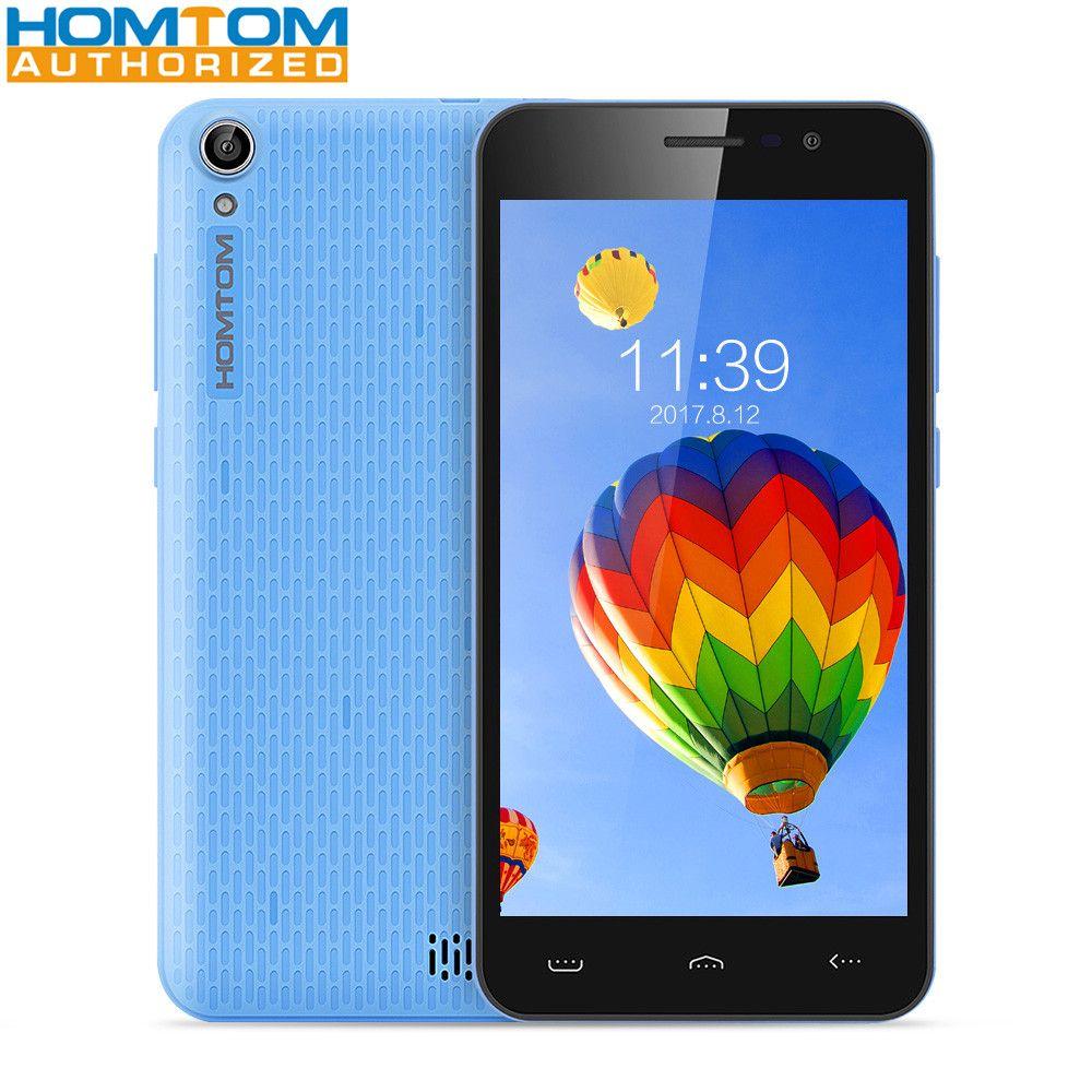 Homtom HT16 5.0 inch 3G Smartphone MTK6580 Quad Core 1GB RAM 8GB ROM Wakeup Gesture 5MP Camera 3000mAh Mobile Phone