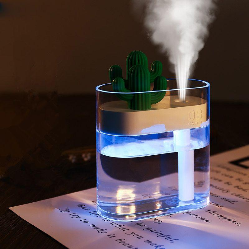 160ML humidificateur d'air à ultrasons clair Cactus couleur lumière USB diffuseur d'huile essentielle voiture purificateur arôme diffuseur Anion brumisateur