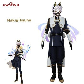 UWOWO Nakigitsune Cosplay Touken Ranbu Online Costume Kiwame Training Touken Ranbu Online Cosplay Nakigitsune Costume Men