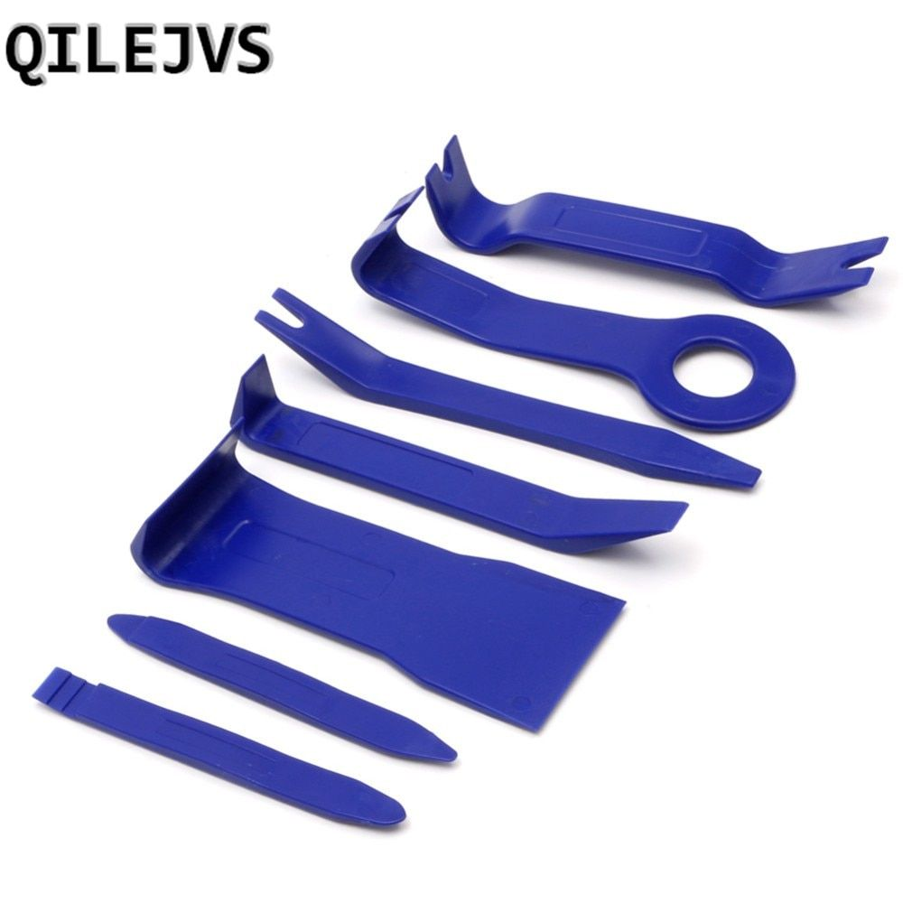 QILEJVS 7Pcs/Set Car Interior Dash Radio Door Clip Panel Trim Open Removal Tools Kit
