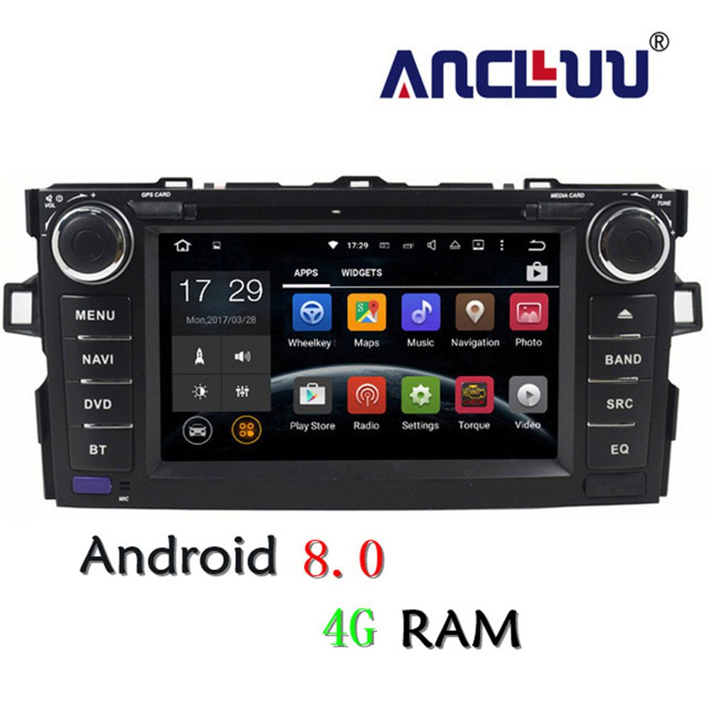 4G RAM Android 8.0 Car dvd Player For Toyota Auris 2006 2007 2008 2009 2010 2011 raido gps navigation car stereo
