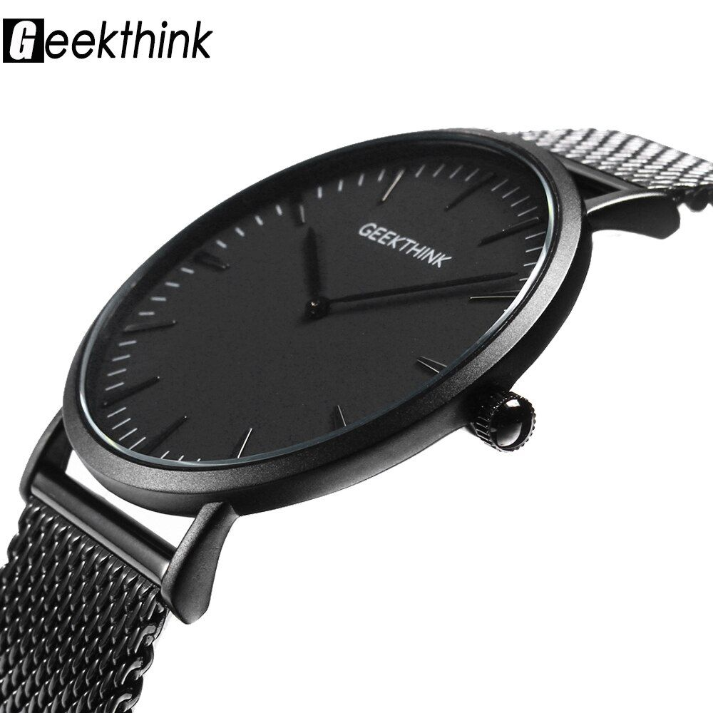 <font><b>Ultra</b></font> thin Quartz Watch Men Casual Black Japan quartz-watch stainless steel Wooden Face clock male Relogio New Top Brand Luxury
