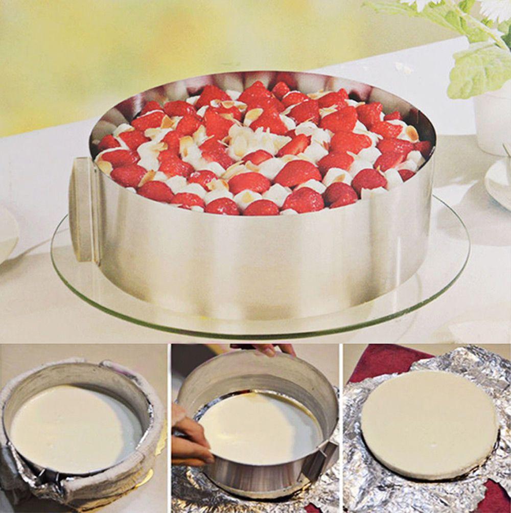 Adjustable16-30cm Нержавеющаясталь круглый мусс, торт кольцо плесень Слои Slicer Cutter, украшения торта Инструменты